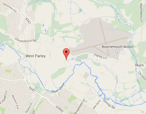 Map - Parley Manor, Parley Green Lane. BH23 6BB.